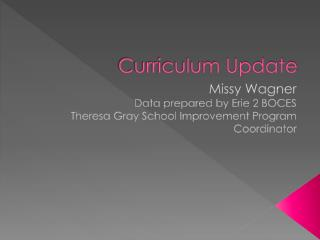 Curriculum Update