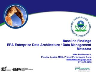 Baseline Findings EPA Enterprise Data Architecture / Data Management Metadata