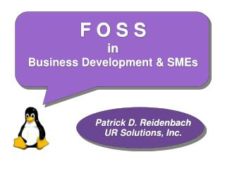 F O S S  in  Business Development & SMEs