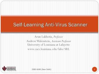 Self-Learning Anti-Virus Scanner