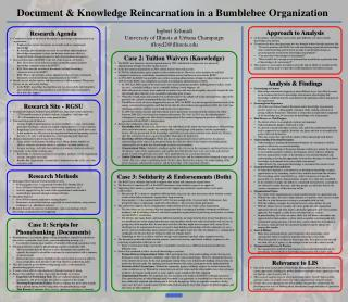 Document & Knowledge Reincarnation in a Bumblebee  Organization