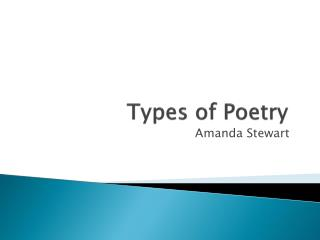 Types of Poetry