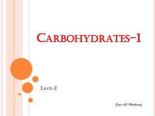 Carbohydrates-1