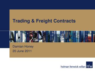 Trading & Freight Contracts