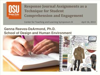 Response  Journal Assignments as a Technique for Student Comprehension and Engagement