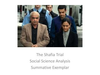 The  Shafia  Trial Social Science Analysis Summative Exemplar