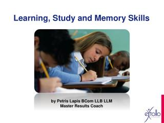 Learning, Study and Memory Skills