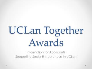 UCLan Together Awards