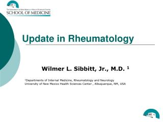 Update in Rheumatology