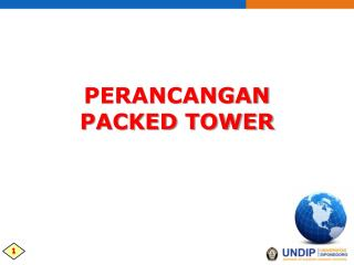 Perancangan packed Tower
