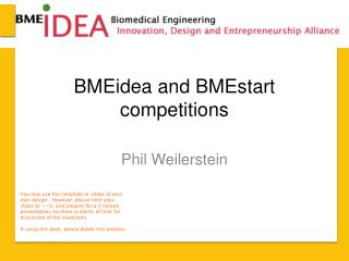 BMEidea  and  BMEstart  competitions
