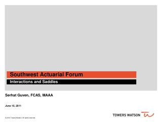 Southwest Actuarial Forum