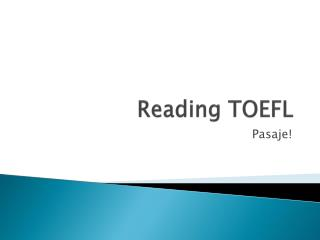 Reading TOEFL