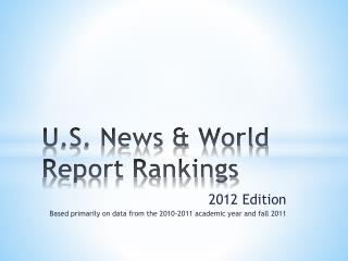 U.S. News & World Report Rankings
