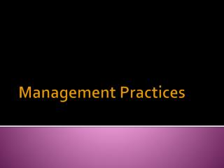 Management Practices
