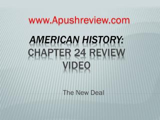 American History:  Chapter 24 Review Video