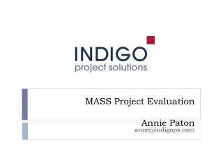 MASS Project Evaluation Annie Paton
