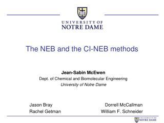 The NEB and the CI-NEB methods