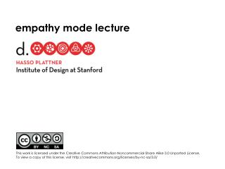 empathy  mode lecture