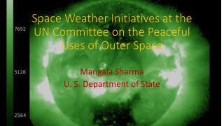 Space Weather Initiatives at the UN Committee on the Peaceful Uses of Outer Space