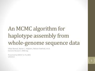 A n MCMC algorithm for haplotype assembly from whole-genome sequence data