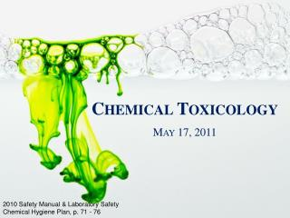 Chemical Toxicology