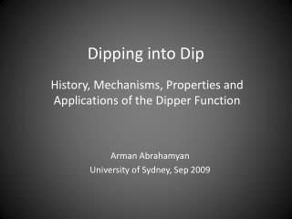 Dipping into Dip