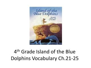 4 th  Grade Island of the Blue Dolphins Vocabulary Ch.21-25