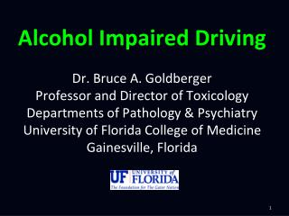 Alcohol Impaired Driving