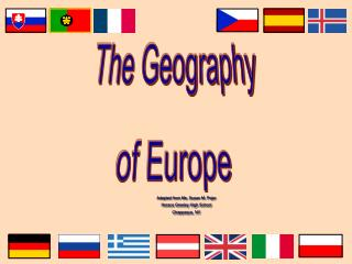 The Geography of  Europe