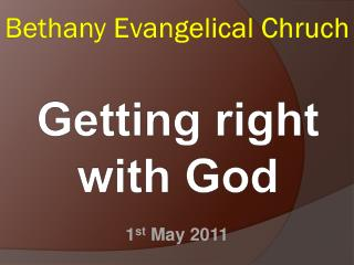 Bethany Evangelical  Chruch