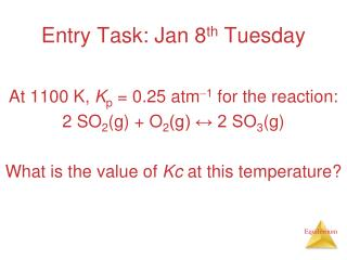Entry Task: Jan 8 th  Tuesday