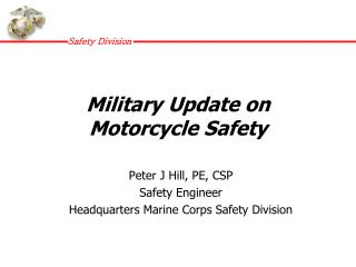 Military Update on Motorcycle Safety