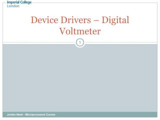 Device Drivers – Digital Voltmeter