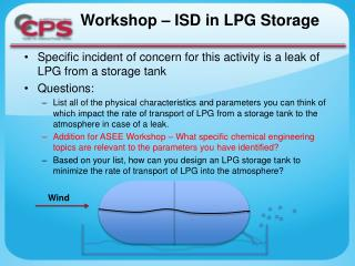 Workshop – ISD in LPG Storage