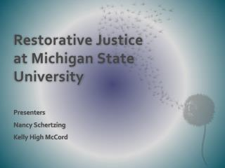 Restorative Justice at Michigan State University
