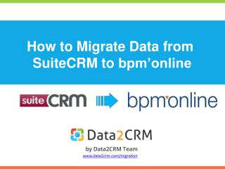 How to Migrate SuiteCRM to bpm'online with Ease