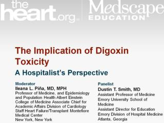 The Implication of Digoxin Toxicity