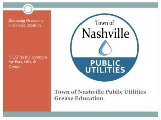 Town of Nashville Public Utilities Grease Education