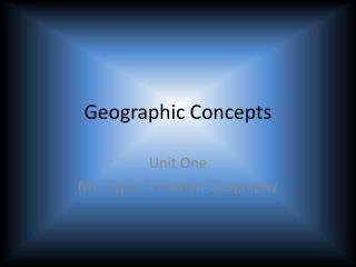 Geographic Concepts