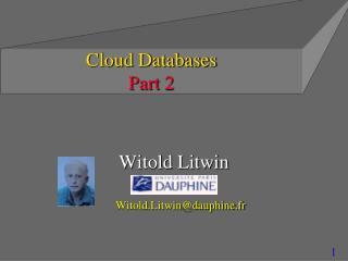 Cloud Databases   Part  2