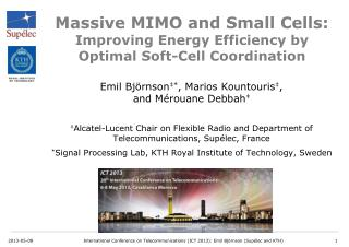 Massive MIMO and Small Cells:  Improving  Energy Efficiency  by  Optimal  Soft-Cell Coordination