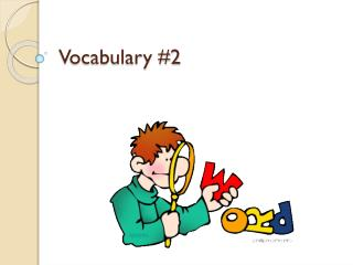 Vocabulary #2