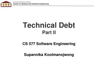 Technical Debt Part II