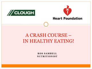 A CRASH COURSE – IN HEALTHY EATING!