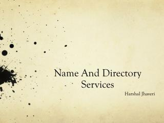 Name And Directory Services