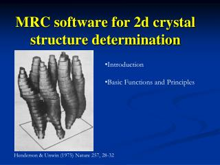MRC software for 2d crystal  structure determination