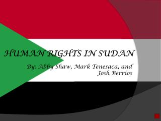 Human Rights in Sudan