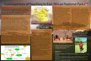 Consequences of Poaching  In East  African National Parks