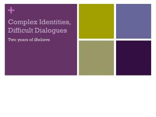 Complex Identities, Difficult Dialogues